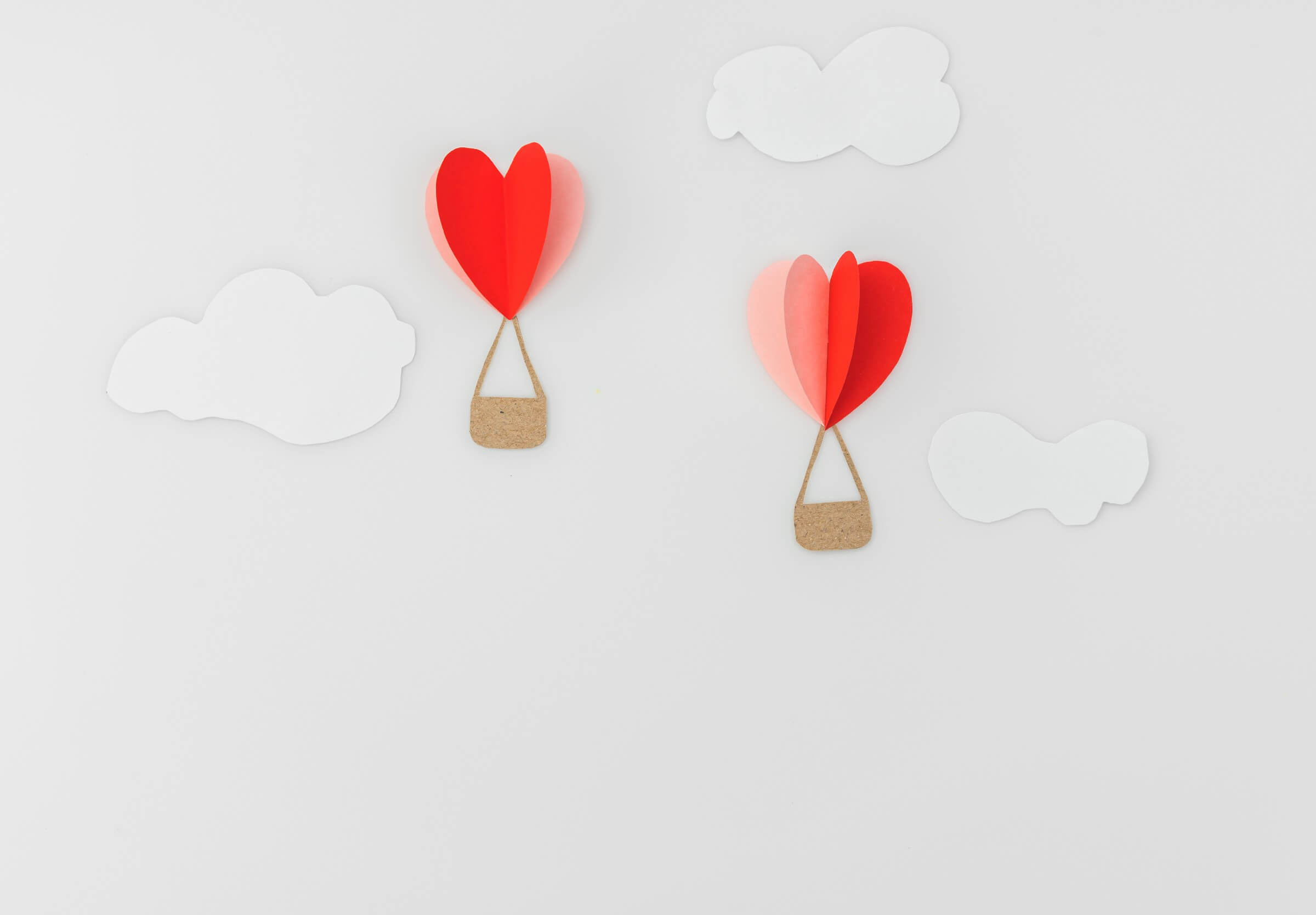 3D Heart Paper as Valentines Decoration for Office