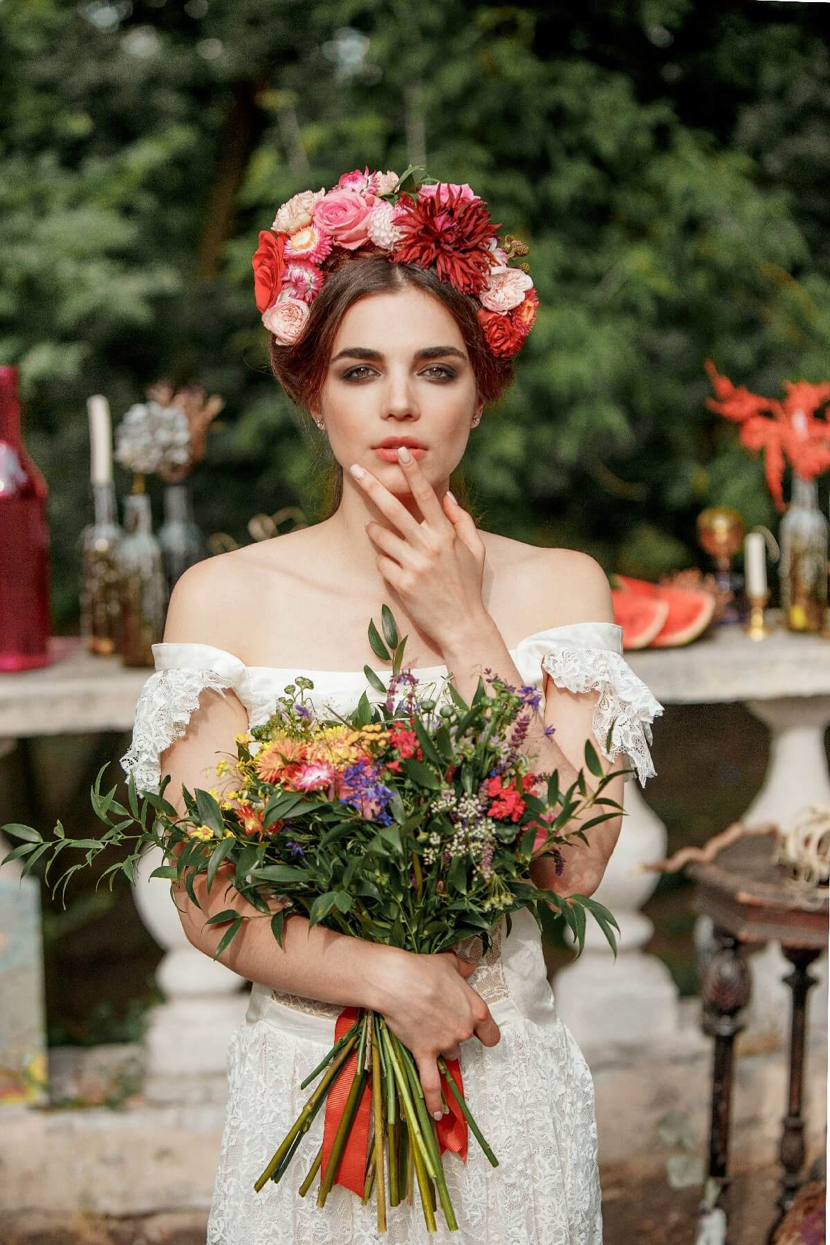 Soft Peachy Natural Bridal Makeup Idea
