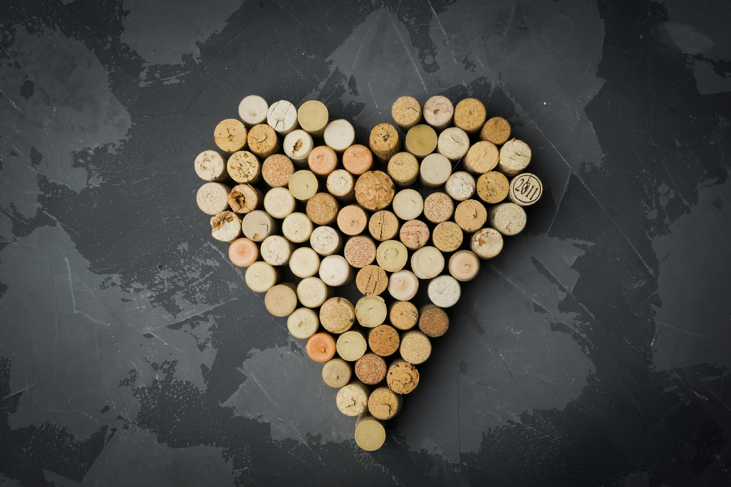 White Wine Cork Heart is Unique Valentine Decoration Ideas for Office