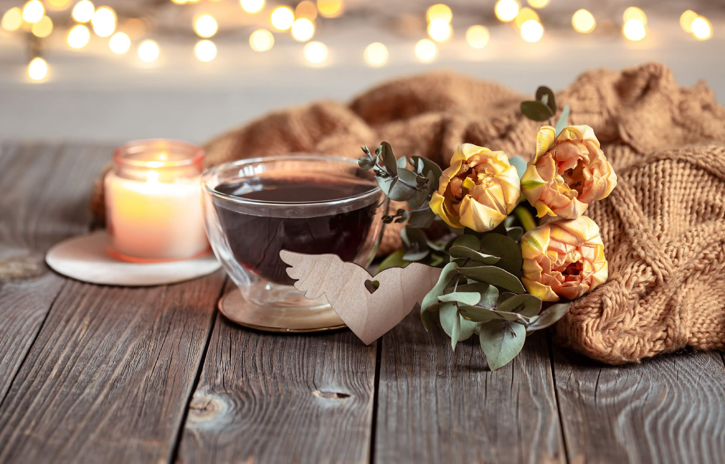 Valentine's day decoration ideas with candlelight