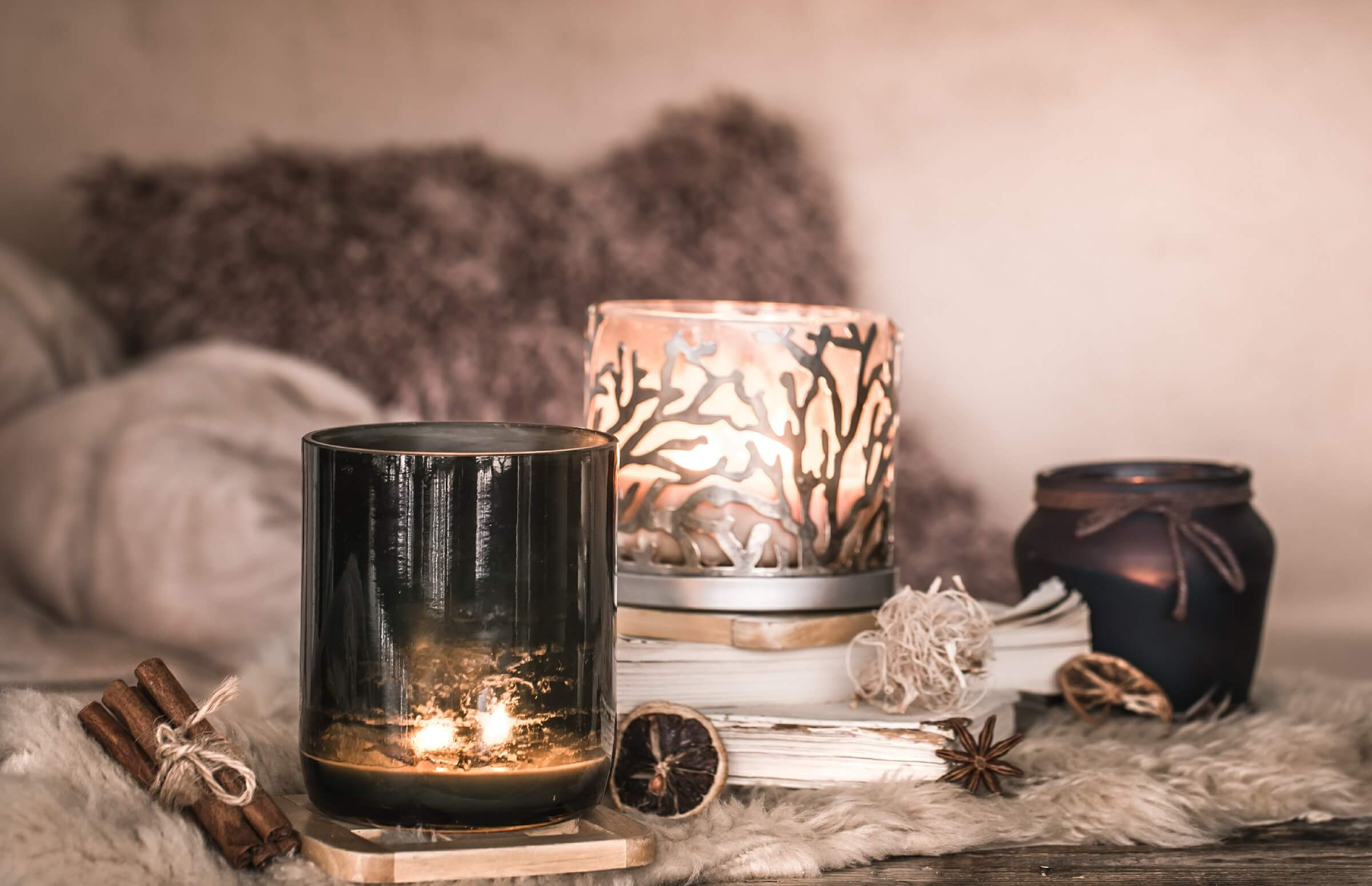 Maintain yourself calm with candles