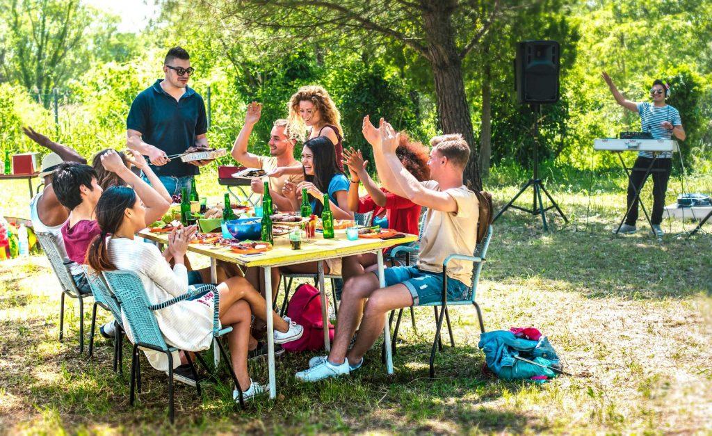 Backyard Table Dinner