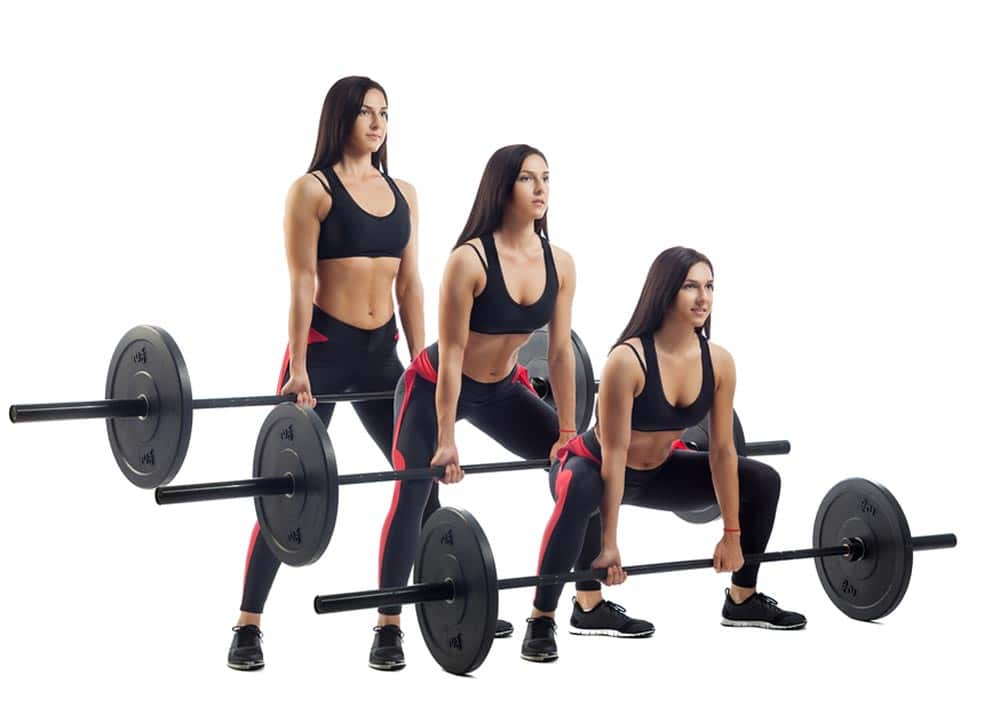 Dead-lifts the back exercises with weights