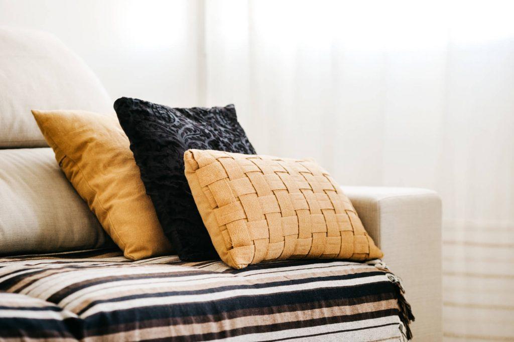 Use seasonal pillows for decoration