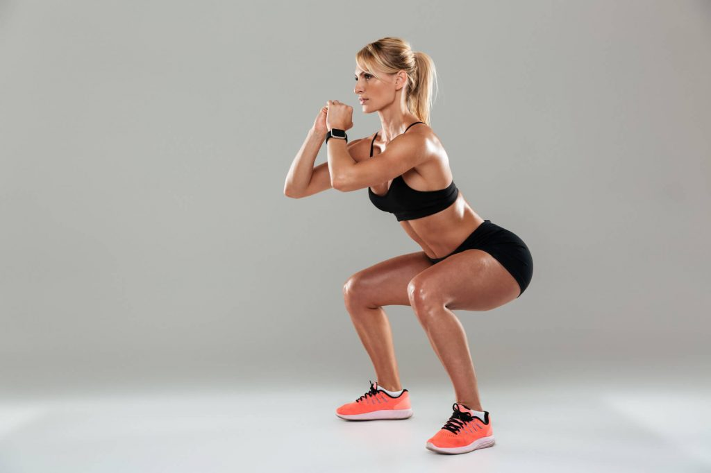 Muscular endurance exercises : How to do body weights squats?