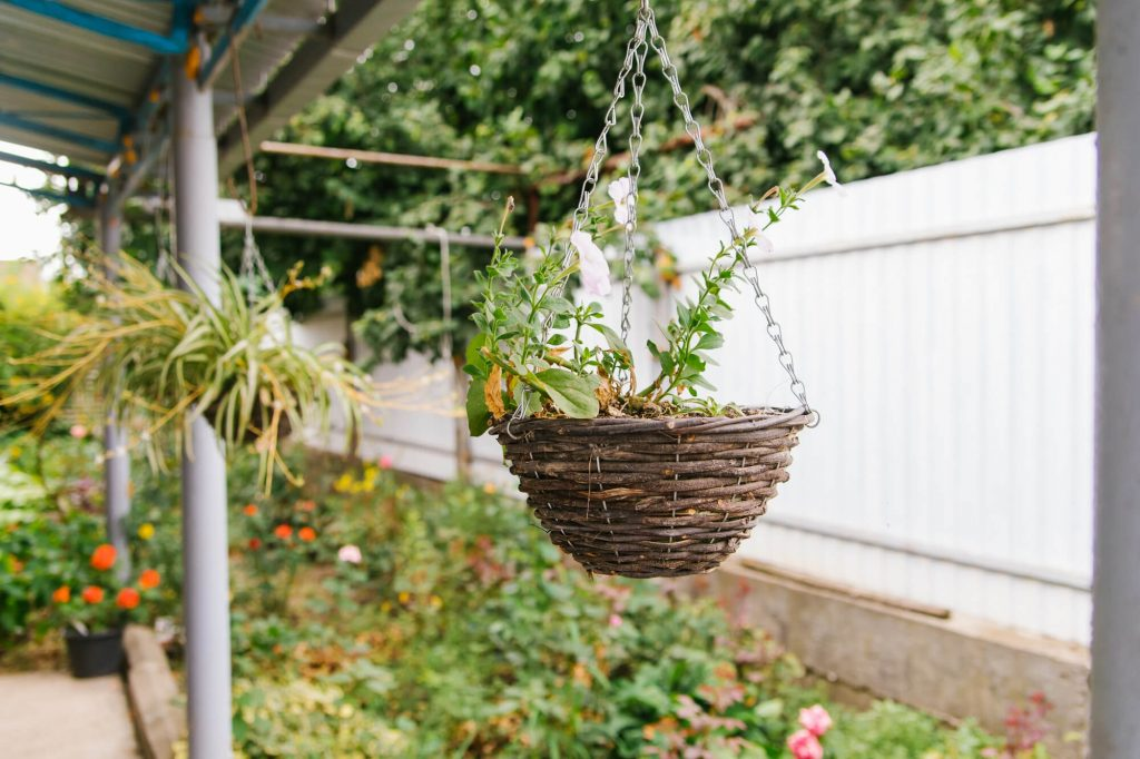 You can add character to your home with some hanging flower vases