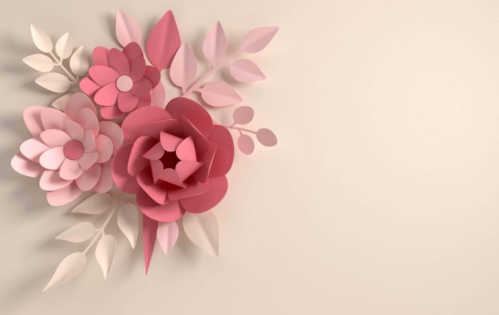 Create a bold visual handmade paper flower or craft for the wall