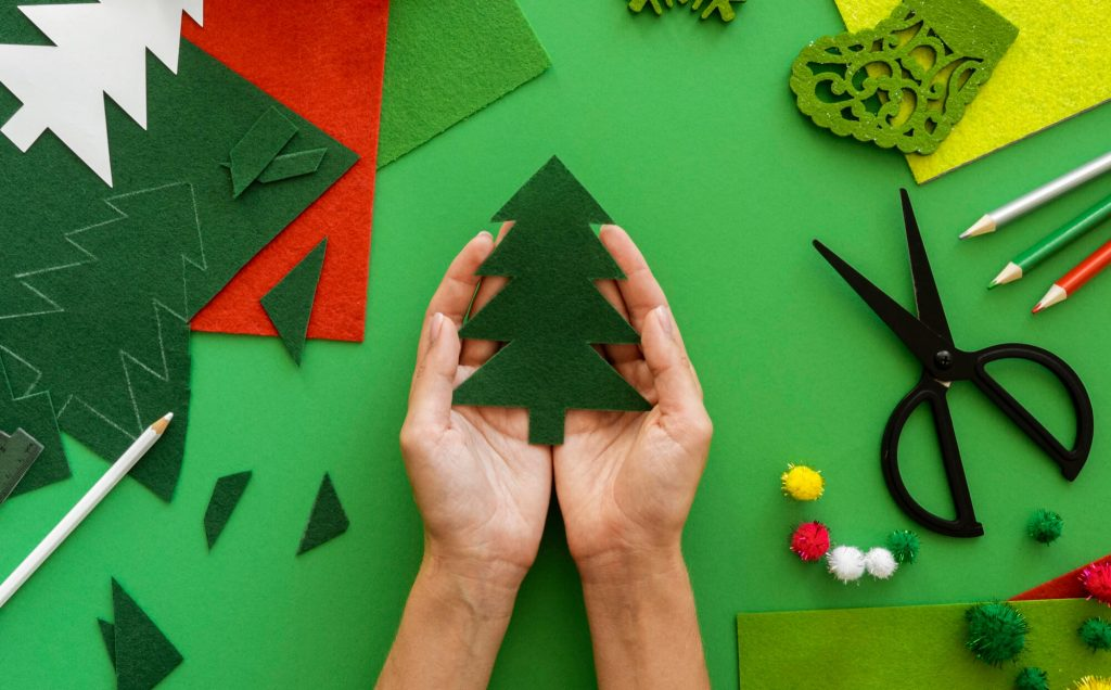 These handmade tree crafts with paper are easy to make and suitable for adults