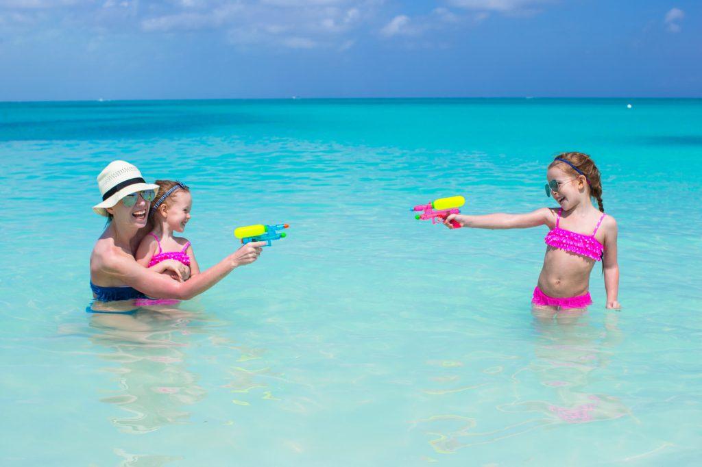Play water gun game
