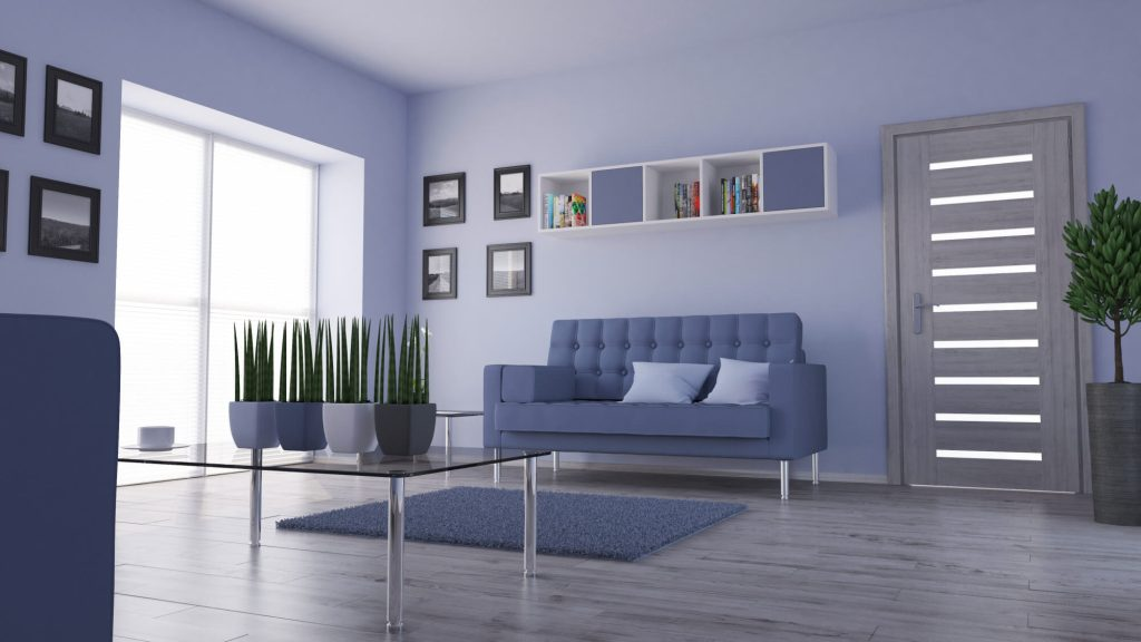 Use modern home decor shades or colors